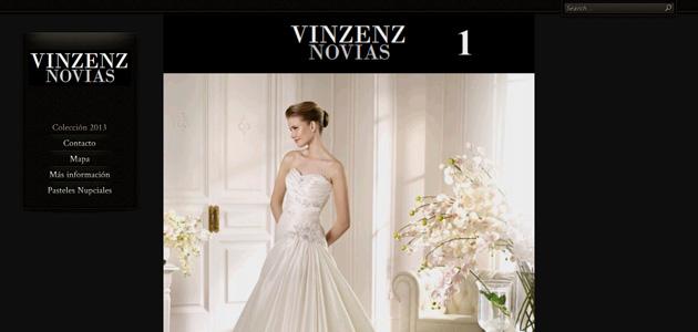 Nova web de Vinzenz Novias