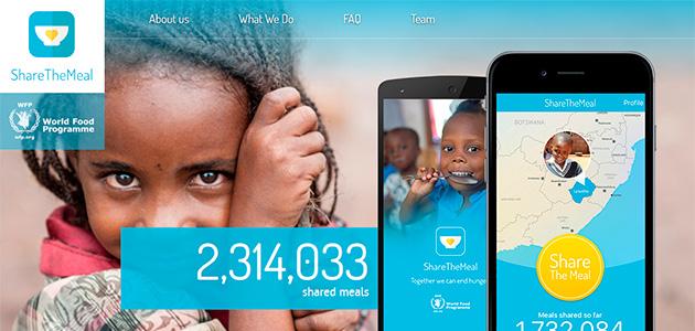 Sharethemeal, un app solidària