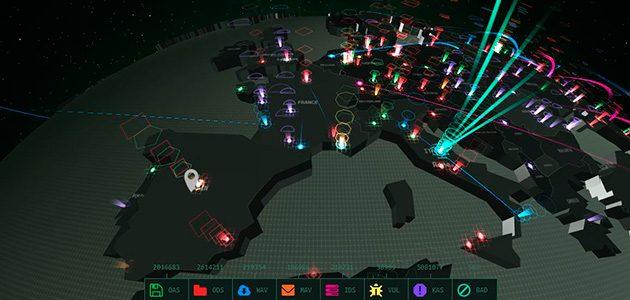 Mapa mundial 3D de ciberamenaces
