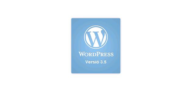 WordPress actualitzat a la versió 3.5