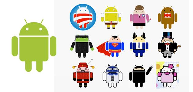Origen del logo d'Android